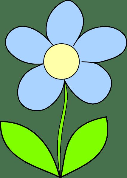 Light Blue Flower Clip Art at Clker.com - vector clip art ...