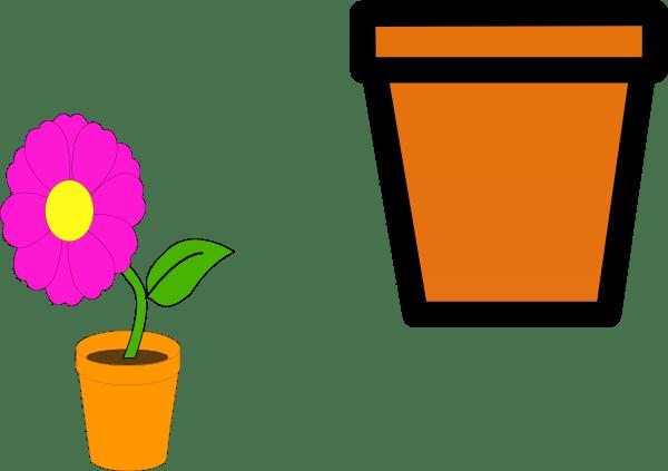 Flower Pots Clip Art At Clker Com Vector Clip Art Online Royalty Free Public Domain