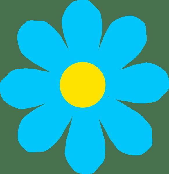 Bright Blue Flower Clip Art at Clker.com - vector clip art ...