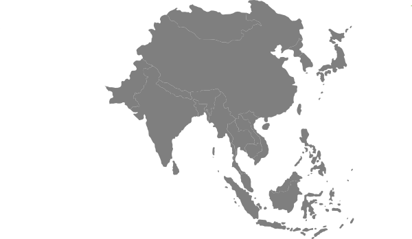 Earth Asia Side Silhouette