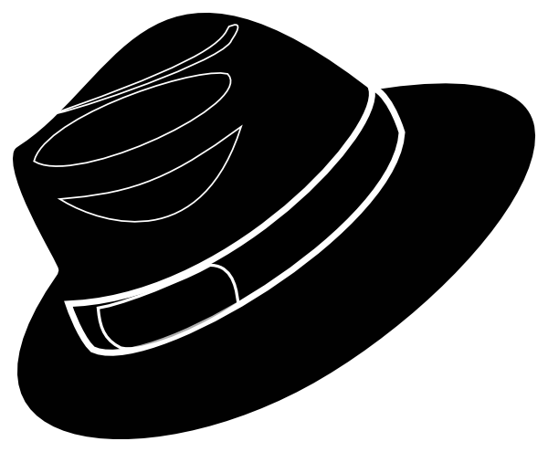 Clip Art Silhouette White Fedora Hat
