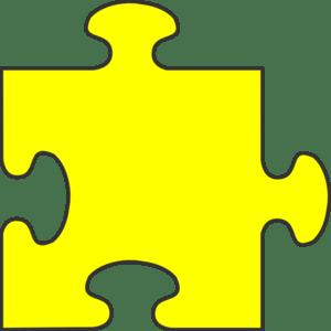 Blue Border Puzzle Piece Top Yellow Fill Clip Art At Vector Clip Art Online Royalty
