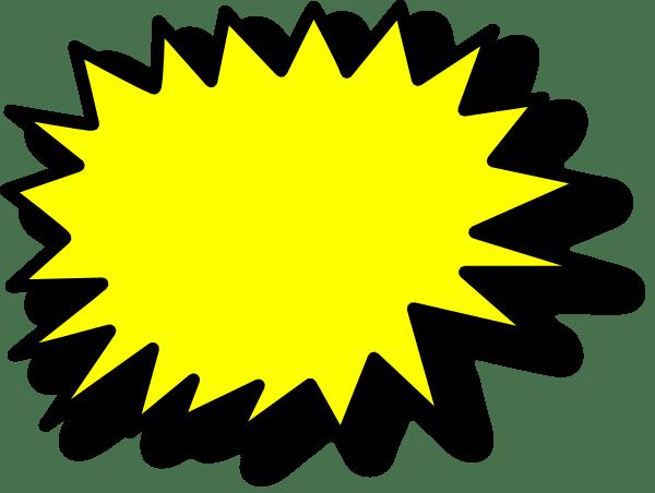 Comic Callout Yellow Clip Art at Clkercom vector clip
