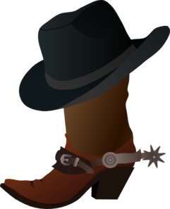 Cowboy Boot And Hat Clip Art
