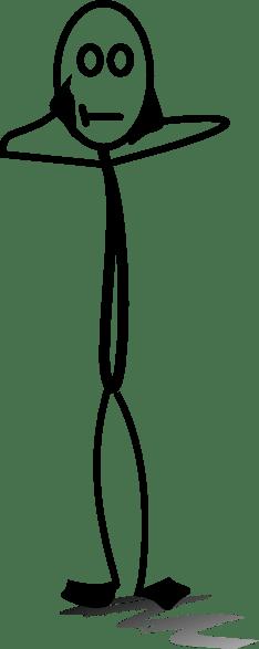 Stick Figure Down Laying