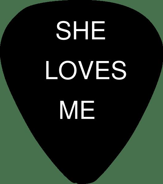 Download Guitar Pick She Loves Me Clip Art at Clker.com - vector ...