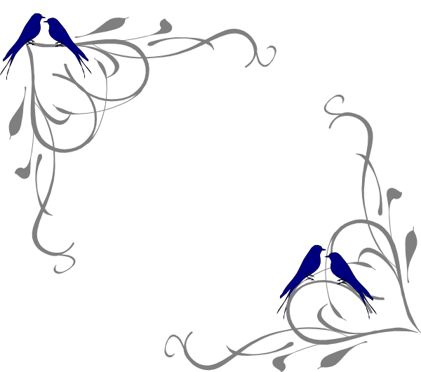 Download Love Birds Corner Frame Clip Art at Clker.com - vector ...