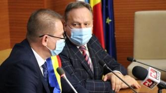 Primarul municipiului Călărași, Marius Dulce și președintele Consiliului Județean Călărași, Vasile Iliuță FOTO Adrian Boioglu