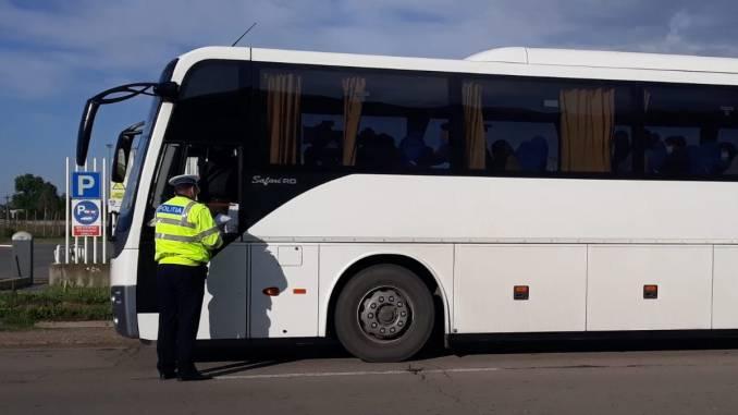 """Acțiunea """"truck and Bus"""" la Călărași. FOTO IPJ Călărași"""