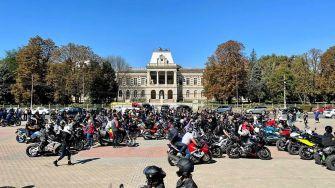 Parada motocicliștilor la Zilele municipiului Călărași. FOTO Primăria Călărași