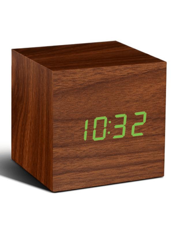 click-clock-cube-walnoot-met-groene-led
