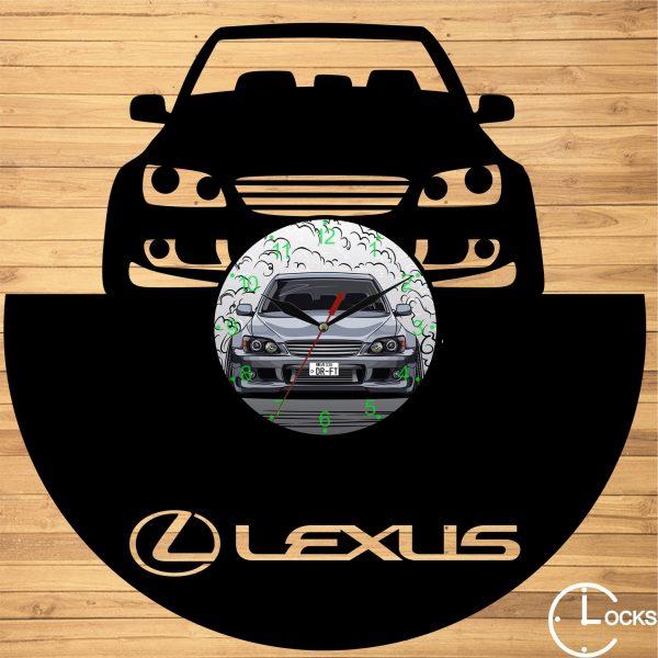 Ceas de perete din lemn negru Lexus Clocks Design