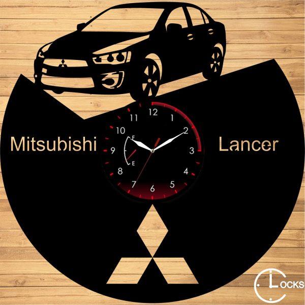 Ceas de perete din lemn negru Mitsubishi Lancer Clocks Design