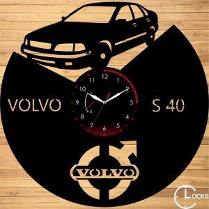 Ceas de perete din lemn negru Volvo S 40 Clocks Design