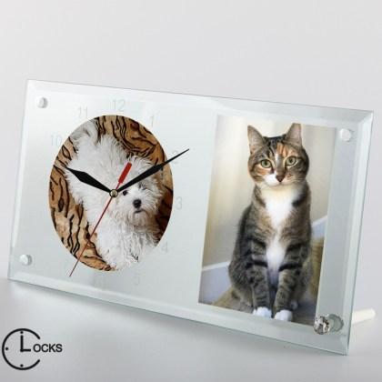 Ceas  din sticla personalizat cu animalute