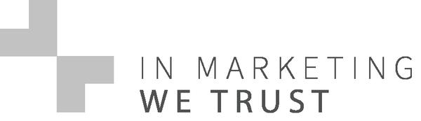 In Marketing We Trust Logo