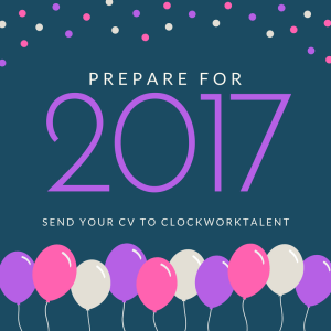 Prepare For 2017 with balloons and pink, purple and white