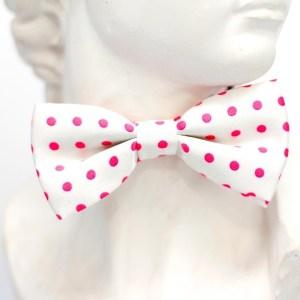 pink polka dot bowtie