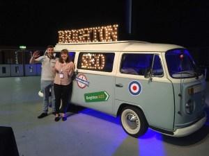 brightonSEO Campervan and clockworkTalent's digital team