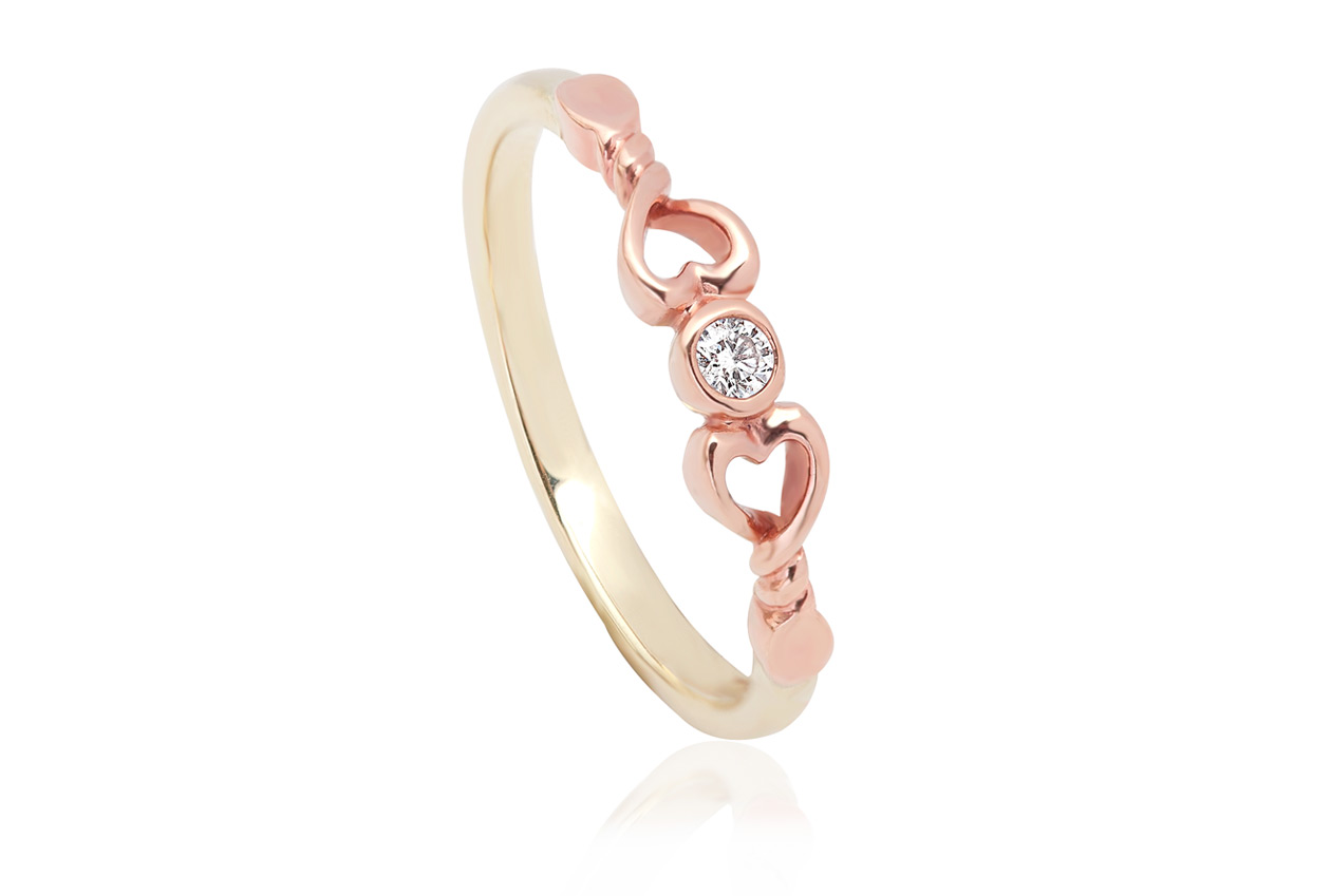 Lovespoons Ring LSPR Clogau Gold
