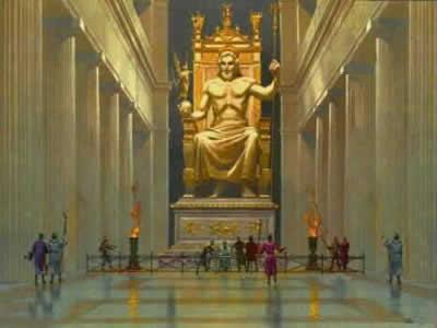 Cele 7 minuni ale lumii - Statuia lui Zeus din Olimpia