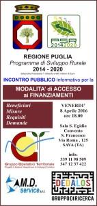 modalita' di accesso ai finanziamenti P.S.R. 2014-2020