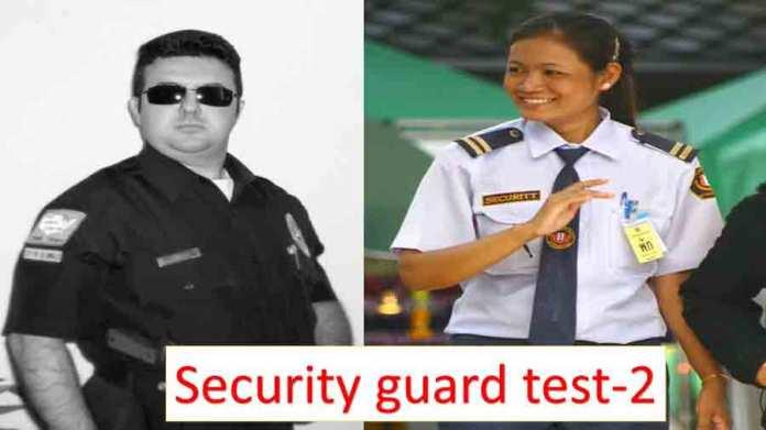security guard test 2