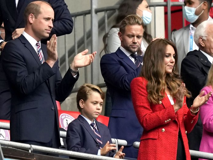 Prince William, George Wear Matching Suits at Soccer Game: Photos