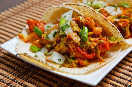 Korean Spicy Bbq Chicken Tacos Closet Cooking