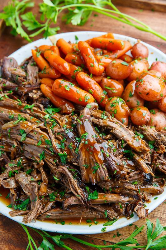 Slow Cooker Balsamic Glazed Roast Beef