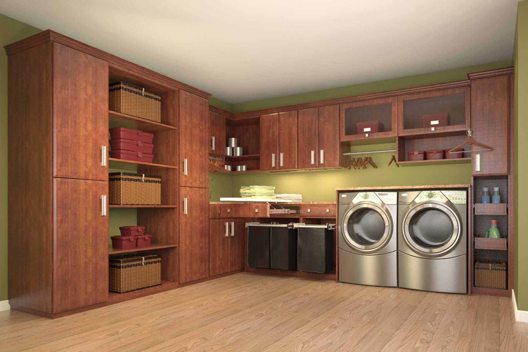 Laundry Room Cabinets | Makeover Design Ideas | Closet Factory on Laundry Cabinets Ideas  id=91270