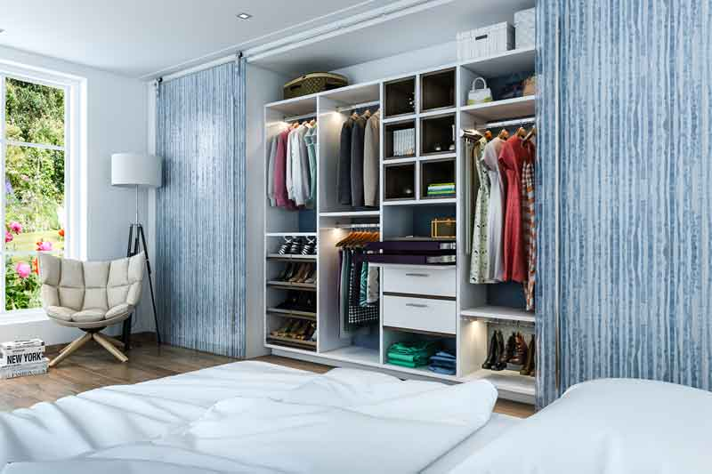 What Is A Custom Reach In Closet Design Closet Factory