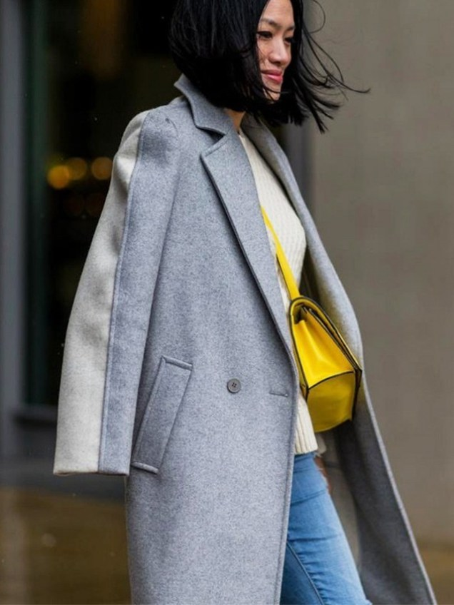 Image result for grey coat street style