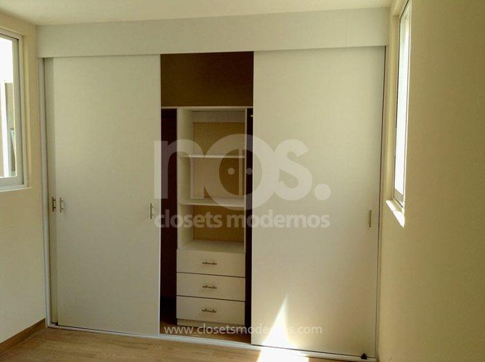 NOS Closets Modernos Economicos Corredizos Blancos CDMX DF Mexico