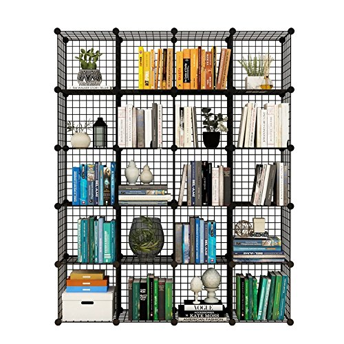 Tespo Metal Wire Storage Cubes, Modular Shelving Grids, DIY Closet  Organization System, Bookcase, Cabinet, (20 U2013 Regular Cube) | Closet  Systems Shop