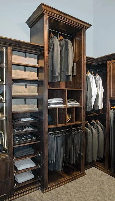 Custom Wood Master Closets And Dressing Room For Him