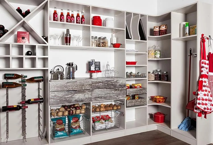 Pantry Shelving Ideas With Rustic Country Farmhouse Appeal