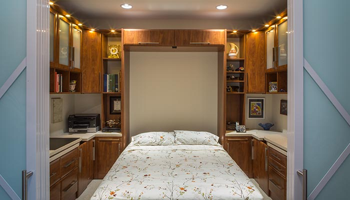 Wall Bed Conversion With Fold Away Desks