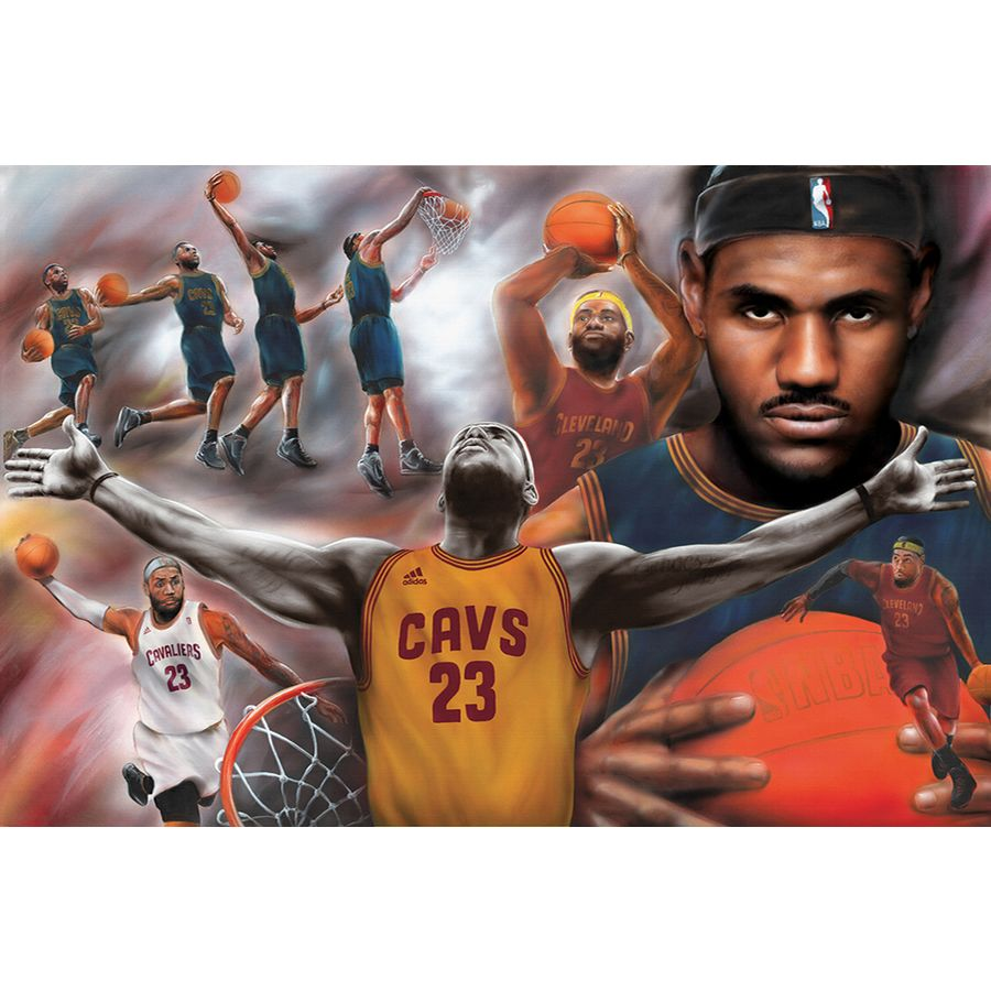 lebron james poster collage cavaliers
