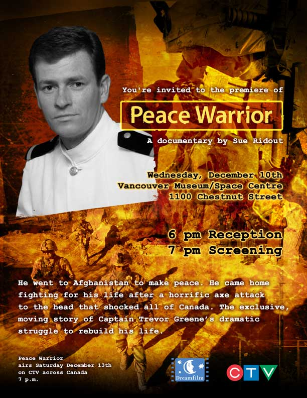 Peace Warriors Airs Today at 7pm on CTV