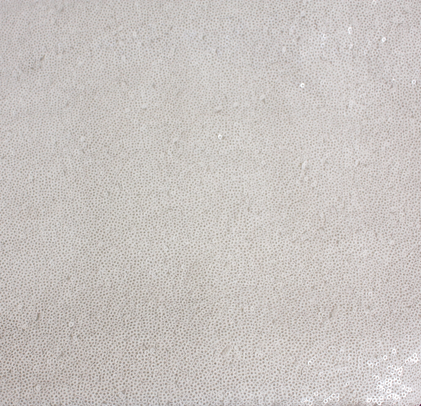 White Brilliance Sequins Table Linen Tablecloth