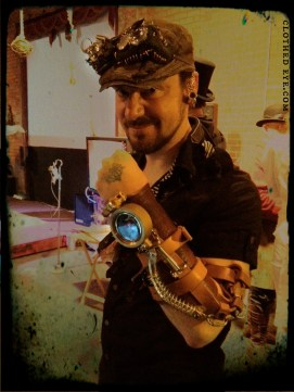Clothed Eye Steampunk Arm Device Vambrace