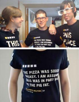 Pizza Delfina t shirt
