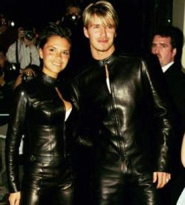 His 'n' Hers matching leather outfits