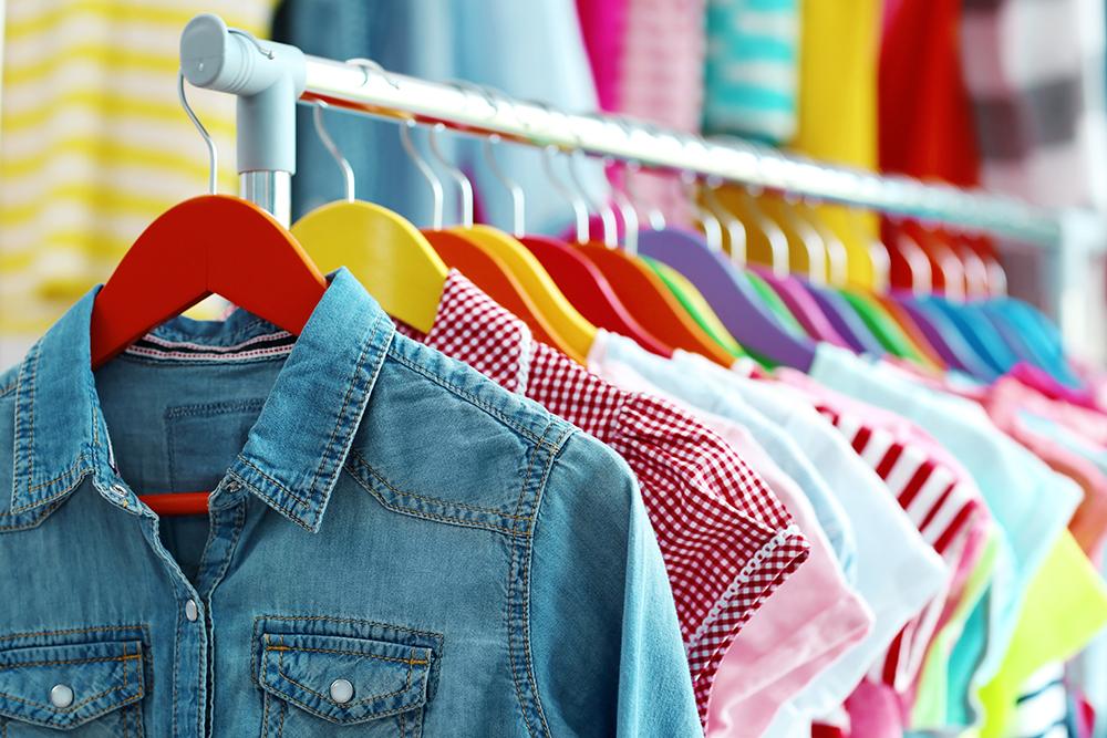 Crisp, Clean clothing on a rack