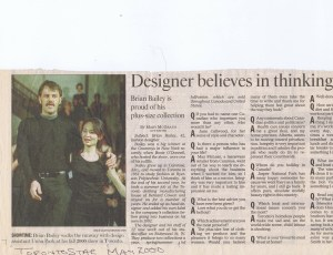 BRIAN BAILEY TORONTO STAR MAY 2000