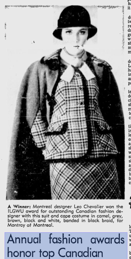 LEO CHEVALIER  MONTREAL GAZETTE JUNE 1968