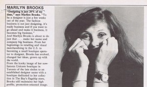MARIILYN BROOKS STYLE 1980 (DATE N/A)