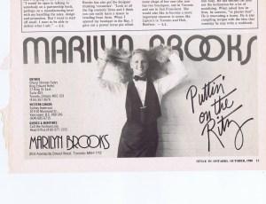 MARIILYN BROOKS STYLE   OCT 1980