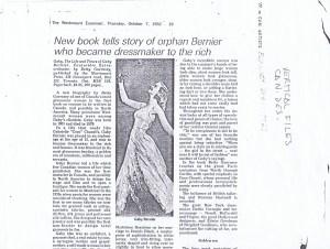 GABY BERNIER EXAMINER 1982